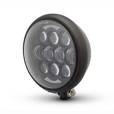 Projector LED Headlight Matt Black for Harley Davidson Sportster Dyna Project