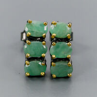Emerald Earrings Silver 925 Sterling Jewelry Design Earrings  /E40911