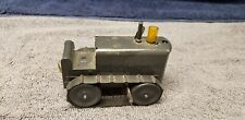 """Vintage 1950's Pressed Steel Wind-Up Tractor 5"""" with Treads Works"""