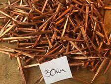 """50g 30mm 1 1/4"""" SOLID COPPER FINE CUT TACKS LARGE HEAD RESTORE BOAT GARDEN DECOR"""