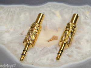 ♫ 2 Jack 3,5 MM Gold to Weld Jack Cable Intra Headphone Ordi / Dac USB/MP3 ♫