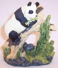 """Koreart Panda on Tree Painted Resin Figurine, 4"""""""
