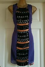 Unwanted Gift. Love Label Heavy Embellished Party/Clubbing Dress.BNWT Uk8 Rrp£65