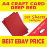 50 Sheets Of A4 Deep Intensive Red Craft Card 160gsm Smooth Hobby Printer Arts