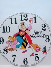 "Wall Clock- Theme. "" Alice in Wonderland "" Battery operated 9"" Personalized-Gift"