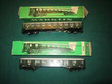 Marklin 4023 e 4026, carrozze passeggeri, express coach, zugwagen gepackwagen