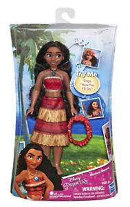 Hasbro Disney Princess Musical Moana Singing Fashion Doll & Shell Necklace BNIB