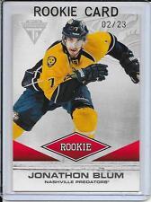 11-12 Titanium Jonathon Blum Spectrum Rookie # 195 #d/23