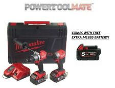 Milwaukee M18FPP2A2-502X Fuel M18FPD2 & M18FID2 Impact Driver 3 x 5.0Ah COMES WI