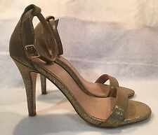 MIX No 6 Women's Sandals Hight Heels Gold Open Toe Size 9