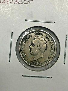 1913 El Salvador 1 Centavo Coin  #00134