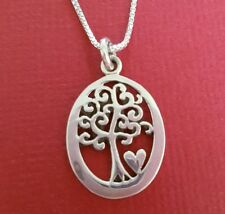 Sterling Silver Tree Of Life Necklace solid 925 Charm pendant and chain family