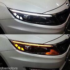 LED Light Chrome Molding 2Way Eyeline Lamp For Kia Optima K5 2011 2013