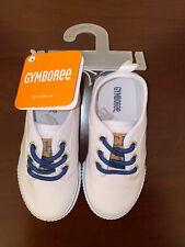 Gymboree NEW! Boys White Sneakers-Chambray Trim-Size 9