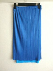 issey miyake pleats please skirt made in japan size 5 MINT sky blue