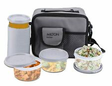 Milton Meal Combi Plastic Lunch Box Set with Water Glass, Grey free shipping