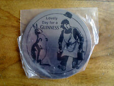 GUINNESS BRUSHED ALUMINIUM COASTER - NEW - SEALED -  FREE UK POSTAGE