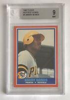 MINT 1987 Fleer Hottest Stars Baseball #5 Barry Bonds ROOKIE CARD BGS 9 (RC)