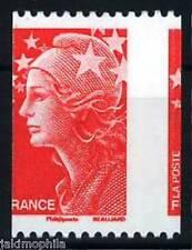 Y&T n° 4240 Variété découpe sur timbre de roulette TVP rouge Marianne Beaujard