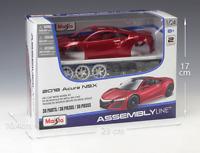 Maisto 1:24 2018 Acura NSX Red Assembly DIY Racing Car Diecast MODEL KITS