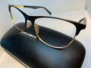 DOLCE & GABBANA DG 1246 1220 Matte Black/Gold 53-15-140 Eyeglasses NO LENS
