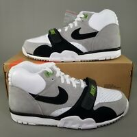 Nike SB Air Trainer 1 ISO Orange Label Skate Shoes Mens Size 8 White Grey Black