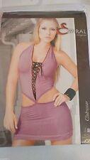 ESPIRAL Woman's Body Con Side Cut Outs Clubwear Dress Hot Pink Medium Sexy New