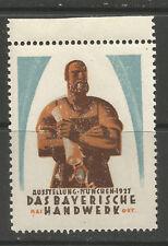 Germany/Munich 1927 Bavarian Craft Exhibition poster stamp/label (B)