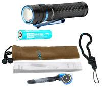 OLIGHT Baton Pro Black Rechargeable LED Flashlight w/Battery, 2000 Lumens