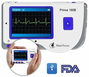 Portable ECG Monitor Handheld 10 Hours Continues Accurate Monitoring Easy to Use