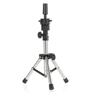 Adjustable Hairdressing Training Mannequin Head Tripod Stand Doll Wig Holder