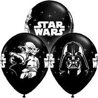 "10 pc - 11"" Onyx Black Star Wars Balloon Bouquet Party Decoration Happy Birthday"