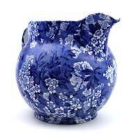 Bourne & Leigh Burslem Pottery May Blossom Large Jug Blue & White Floral Chintz