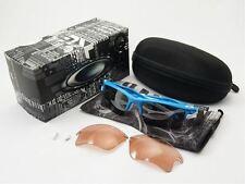 NEW Oakley Fast Jacket XL Sky Blue / 2 sets lens: Black Iridium & G40, OO9163-03