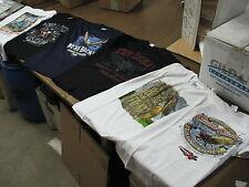 lot of 6 gildan heavyweight MEDIUM t-shirt cicada good work shirt thick cotton