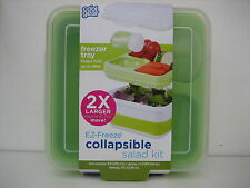 COOL GEAR Salad Kit EZ FREEZE COLLAPSIBLE 4 pc Bento Box Style Container, NEW