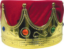 Morris Costumes Men's Kings Crown Red Turban Assorted Stones Accessory. GB23RD