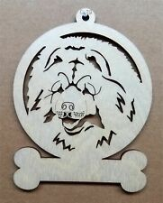 Chow dog ornament wooden Christmas Gift D-29