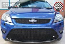 ZunSport Ford Focus ST 2008-2010 Black Steel Front Grille Set With Full Lower