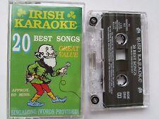 IRISH KARAOKE CASSETTE, 20 BEST SONG'S, OUTLET RECORDINGS, LYRICS, TESTED, RARE.