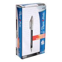 Paper Mate FlexGrip Elite Retractable Ball Point Pens Bold Black Ink Pack of 12