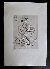 Paul Cezanne Original Etching A Guillamin Au Pendu