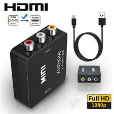 AV to HDMI 1080P RCA CVBS Video Audio Composite Converter Mini Adapter HDTV/DVD