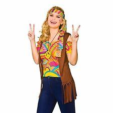 Cool Hippie Groovy Hippy Woodstock 60's 1960's Adults Womens Fancy Dress Costume