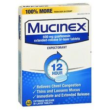 Mucinex Expectorant Extended Release 40 tabs 600 mg