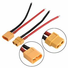 2 pcs of  XT60 Battery Male Female Connector Plug with Silicon 14 AWG Wire Hot