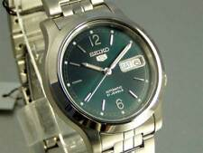 Seiko 5 Automatic Mens Watch Green Dial Skeleton Back SNK801K1 UK Seller