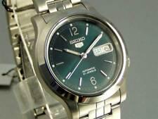Seiko 5 Automatic Mens Watch Green Dial Skeleton Back SNK801K1 UK Seller