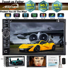 """6.2"""" 2 DIN In Dash DVD HD Bluetooth Car Stereo Radio MP3 Player AUX Touch Screen"""