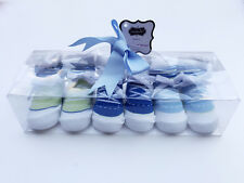 Pack of 3 Newborn Faux Shoe Baby Boy Sneaker Sock Booties in a gift box! 0-12mos